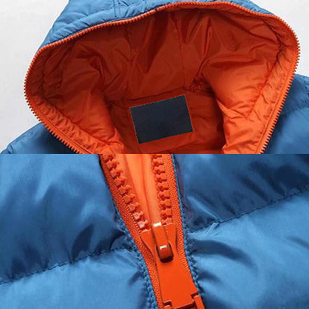 패션 겨울 남성 자켓 코트 컬러 블록 지퍼 후드 코튼 패딩 코트 따뜻한 아웃웨어 자켓 플러스 사이즈 куртка