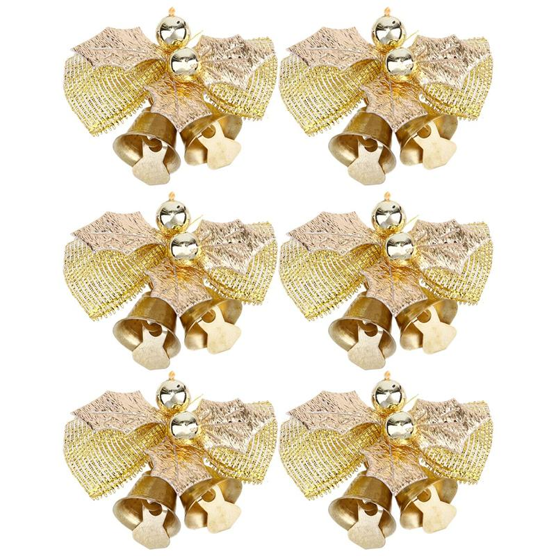 6 шт. галстук-бабочка Рождественская елка украшения тканевые банты мини банты для елки Рождественский бант украшение