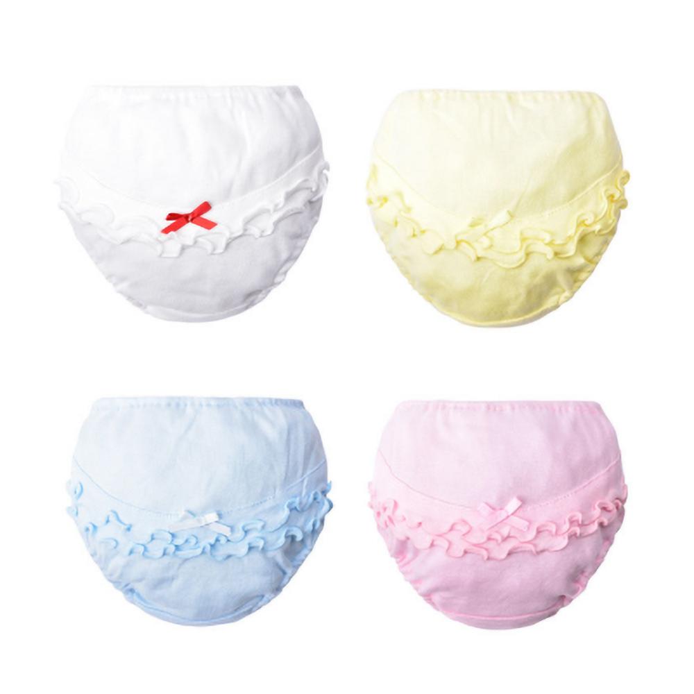 Toddler Baby Underwear Girls Panties Kids 100% Cotton Underpants Newborn  Summer Solid Color Shorts Infant  Briefs 0-2Year