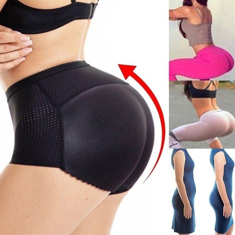 Women Seamless Padded Butt Lift Panties Invisible Butt Lifter Hip Enhancer Underwear Boyshort