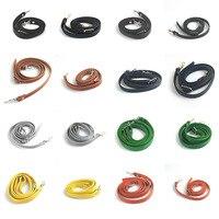 Correa para bandolera de cuero de 120cm, cinturón ajustable con patrón de lichi de Color sólido, bricolaje, Diagonal