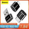 Baseus USB Typ C OTG Adapter USB C Männlich Zu Micro USB Weibliche Kabel Konverter Für Macbook Samsung S20 Xiaomi USB Zu Typ-c OTG