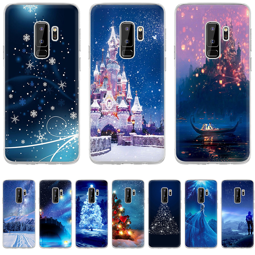 Phone Case Christmas Wallpaper For Samsung Galaxy Note 8 9 10 S10 S10e S7 Edge S8 S9 Plus Cases Tpu Fitted Cases Aliexpress