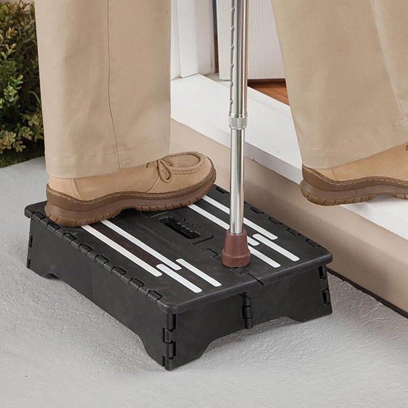 Portable Folding Step Non-Slip Plastic One Step Stool For Toilet Caravan Elderly Pregnant TP899