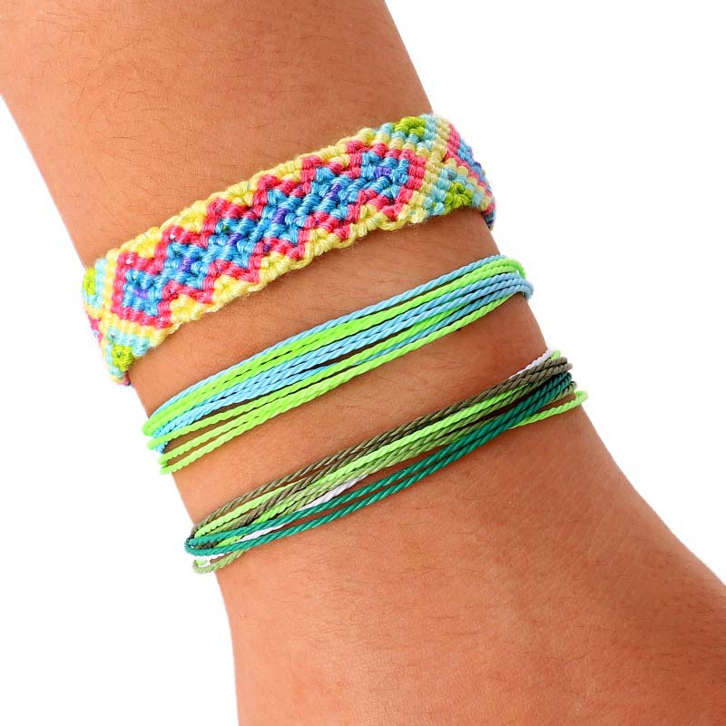 3pcs/set Bohemian Thread Bracelet Retro Handmade Boho Multicolor String Cord Woven Braided Hippie Friendship Bracelets Women Men