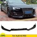 Углеродное волокно  передний бампер  диффузор для губ  автомобильный корпус  комплект для Audi A5 RS5 2D 4D 2012 2013 2014 2015  бампер  спойлер  крышка  разв...