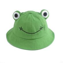 Genitore-capretto cartone animato rana cappello da pescatore Panama cappello da pesca cappello Froggy carino Homme Femme Bob Chapeau cappello da pescatore da sole all'aperto