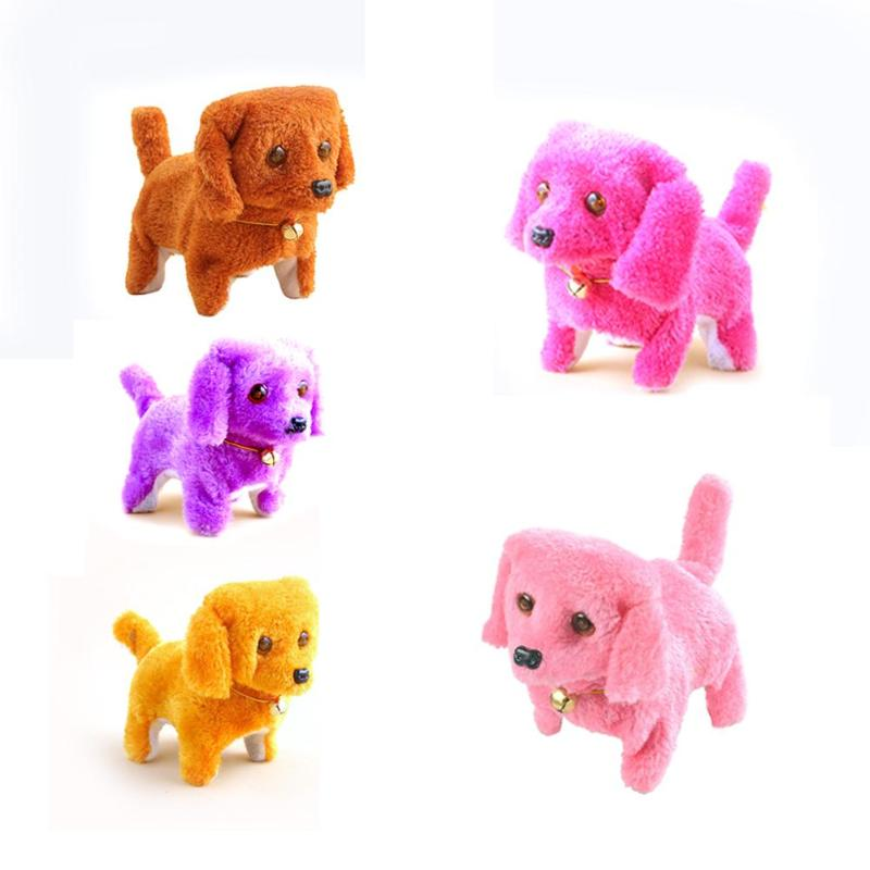 Auspicious Short Plush Toy Electric Dog Toy New Strange Decompression Interesting Lovely Single Dog Doll Kids Gift