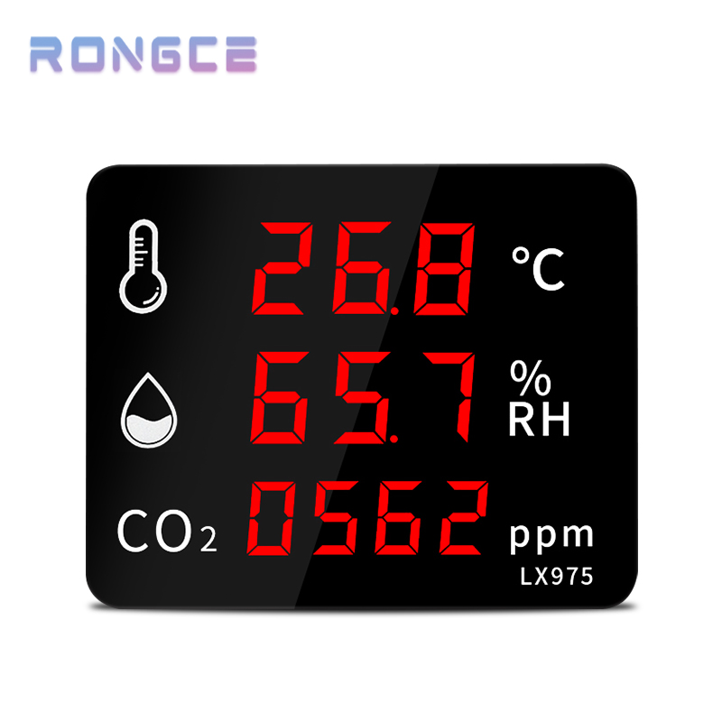CO2 Sensor PPM Digital CO2 Meter Hygrometer Weather Station For Home Thermometer Outdoor Wall Mounted Carbon Dioxide Monitoring