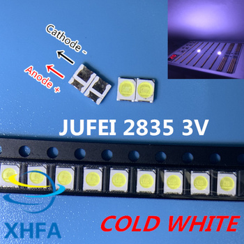 50pcs JUFEI LED Backlight 1210 3528 2835 1W 3V 107LM Cool white LCD Backlight for TV TV Application 01.JT.2835BPWP2-C image