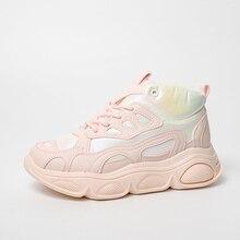 נשים נעלי פלטפורמת שמנמן סניקרס גבוהה שרוכים מקרית לגפר נעלי ישן אבא נשי אופנה סניקרס 2020 נעלי ספורט
