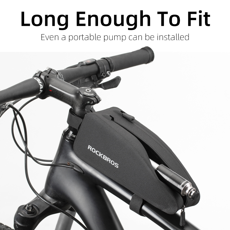 Details about  /Black Bicycle Cycling Front Tube Frame Bag ROCKBROS  Waterproof Road Bike Bag pb