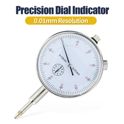 0-10mm 0.01mm Dial Indicator Gauge  Meter Precise 0.01mm Resolution Indicator Gauge Mesure Instrument Tool Aluminum Alloy Case