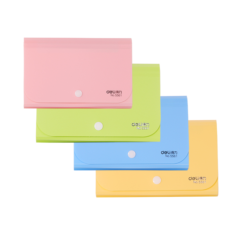 Deli Candy Color A6 File Folder Small Document Bags Expanding Wallet Bill Folders For Documents Fichario Escolar