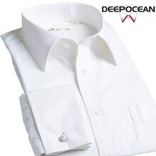 DEEPOCEAN French cufflinks men's long-sleeved pure cotton non-iron business is slim Korean version