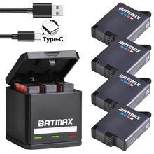 цена на Batmax for GoPro Hero 8 7 6 5 Battery 1600mAh + USB Triple Charger Type C for GoPro Hero 8  GoPro 7 6 5 Black Akku  Cameras