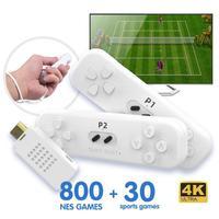 Retro Game Stick con Controller Wireless 2.4G 4K Classic Motion Sensing Console di gioco videogioco costruito nel gioco Nes 800