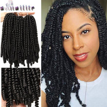s-noilite 8inch 60strands/pcs fluffy twist braiding hair kinky Spring twist