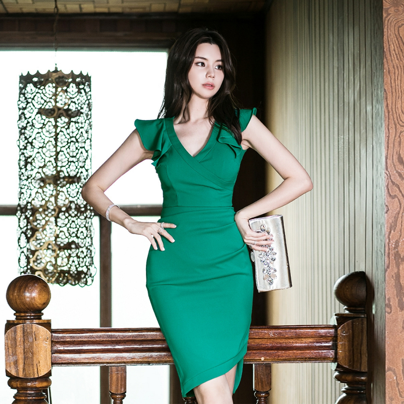 women summer sexy party Bodycon korean style fashion dress