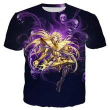 Summer Hot Sale New Saint Seiya Series Men's And Women's Tshirts 3D Printing Novelty Fashion T-shirts Hip Hop Street Casual Tops
