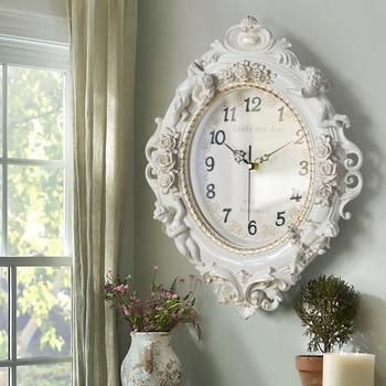 European Style Living Room Creative Fashion Art Decoration Wall Clock Mute Bedroom Wall Clock Acrylic Quartz Clock WY112409