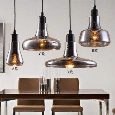 Vintage Glass Pendant Light Grey Color ,clear Color ,amber Color Pendant Lamps With E27 Bulbs 110V/220V Led Pendant Lights