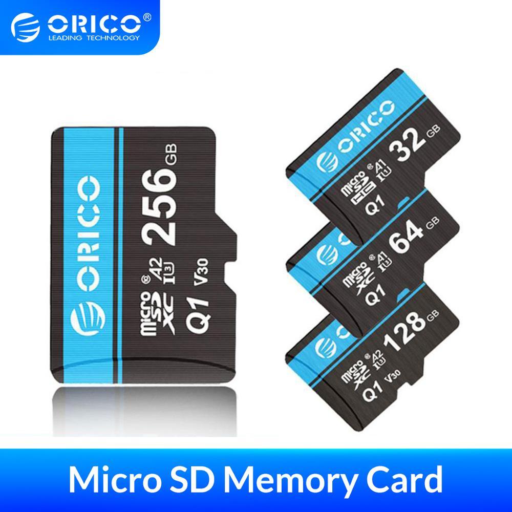 Mini carte Micro SD ORICO carte mémoire 32 go 64 go 128 go 256 go MicroSD Max 80 M/s carte Flash SD/TF carte mémoire