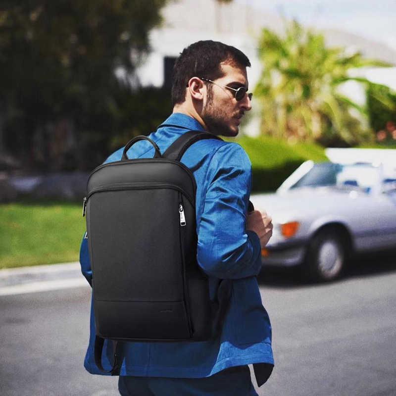 BOPAI, mochila delgada para ordenador portátil, para hombre, 15,6 pulgadas, para oficina, trabajo, hombre, mochila de negocios, mochila ultraligera negra Unisex, mochila fina