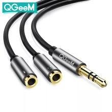 QGEEM 3.5 millimetri Audio Splitter Cavo per Computer Martinetti 3.5 millimetri 1 Maschio a 2 Femmina Mic Y Splitter AUX cavo Auricolare Splitter Adapter
