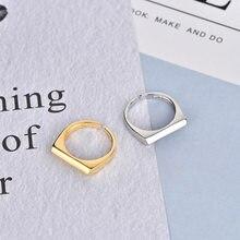 Ins – bague géométrique minimaliste en Argent Sterling 925 Pour femmes, Bijoux redimensionnables, Massif 925