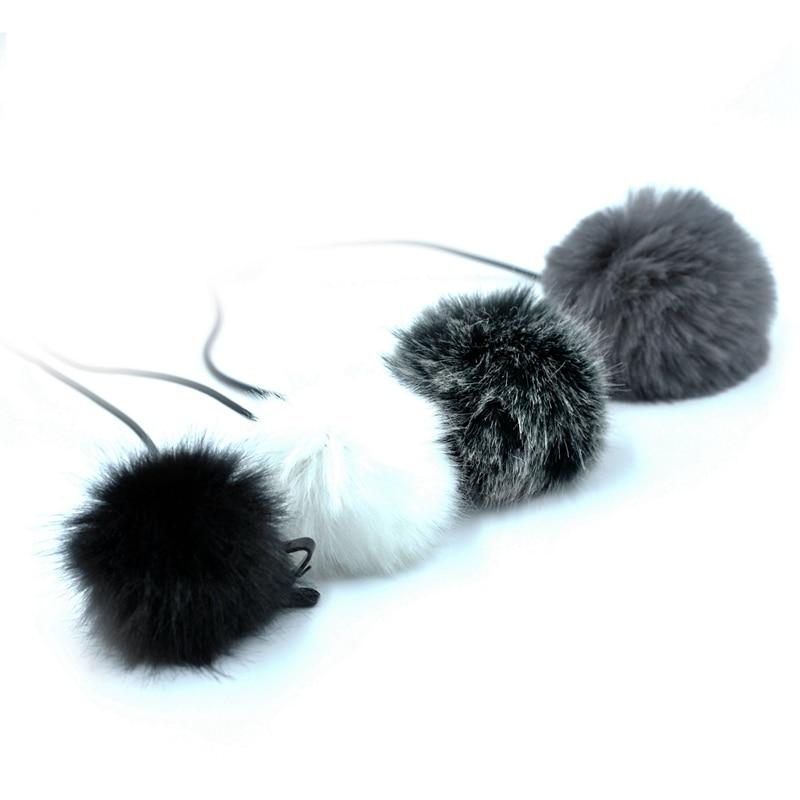 Promotion--Universal Lavalier Microphone Furry Windscreen Fur Windshield Wind Muff Soft For Sony Rode Boya Lapel Lavalier Mic 5M