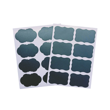 40pcs/lot Two Style Blank Black Special Shaped Stickers Baking Seal Sticker DIY Gift Product Sealing Label