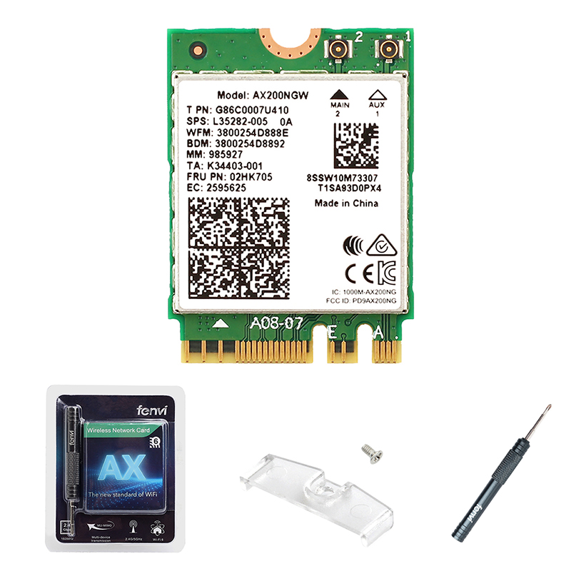 Wireless Dual Band 2400Mbps WiFi 6 For Intel AX200 NGFF M.2 Bluetooth 5.0 Wifi Network Card AX200NGW 2.4G/5G 802.11ac/ax MU-MIMO