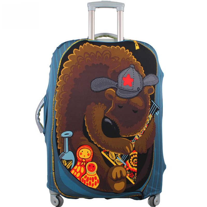 אהבה רוסית/דוב נסיעות מזוודות כיסוי, למתוח Dustproof מגן כיסוי, מזוודת מגן כיסוי להחיל כדי 18-30 אינץ מקרי
