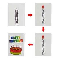 10sets Glücklich Geburtstag Karte Zaubertricks Magie Karten Kinder Magie Geschenk Für Kinder Zauberer Trick