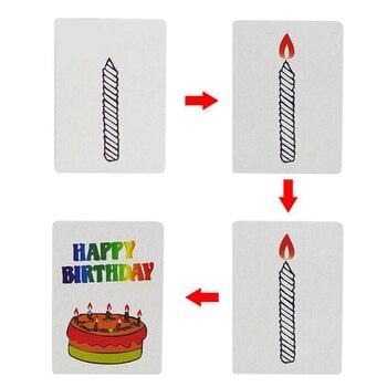 10sets Happy Birthday Card Magic Tricks Magic Cards Kids Magic Gift For Children Magician Trick фото