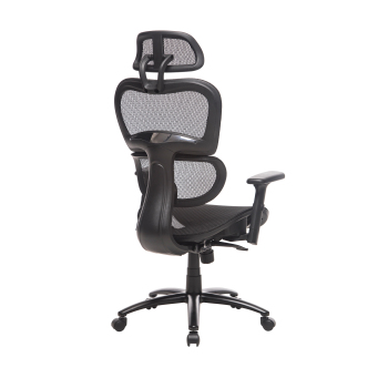 Two Colors Ergonomic Office Chair Mesh Chair Computer Chair Desk Chair High Back Chair with Adjustable Headrest and Armrest-blue 2
