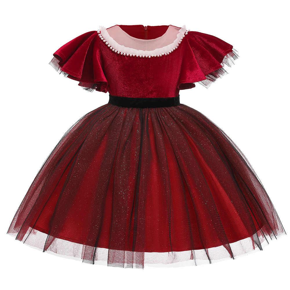 Girl dress New Year Teenage Girl Christmas Dress For Girls prom wedding  Party Dresses Girls Red Girl Dresses Children Clothes
