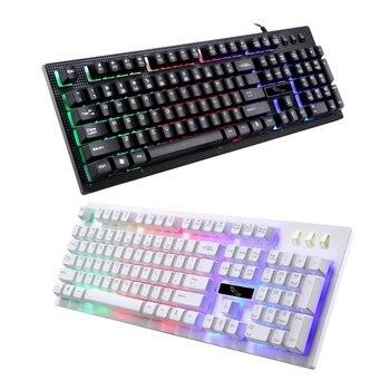 Wired Gaming Keyboard  USB Backlight Gaming Keyboard Ergonomic Comfortable 114 Keys Keyboard For PC Laptop For Pro Gamer 3