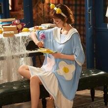 Пижамы для женщин ночная рубашка женское летнее платье принцессы