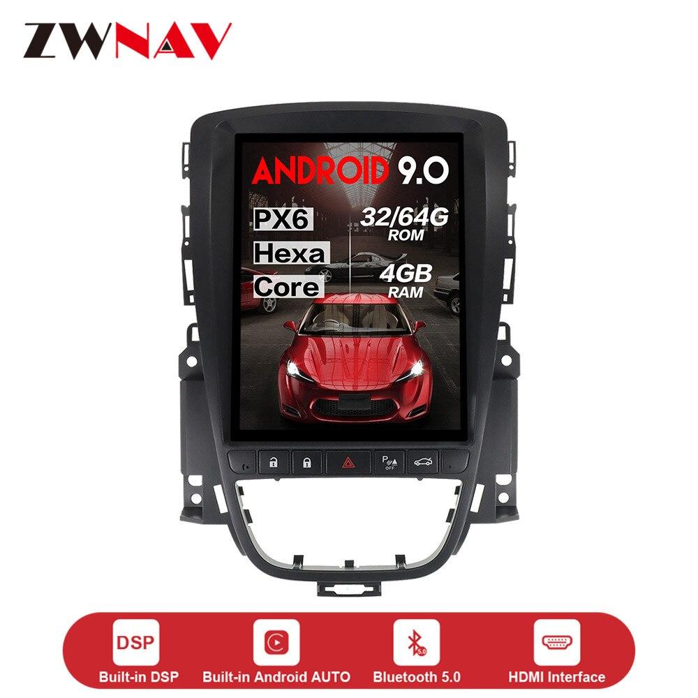 Lecteur multimédia de voiture de style Android 9.0 de Tesla vertical pour OPEL Vauxhall Holden Astra J 2010-2013 GPS navi radio stéréo unité principale