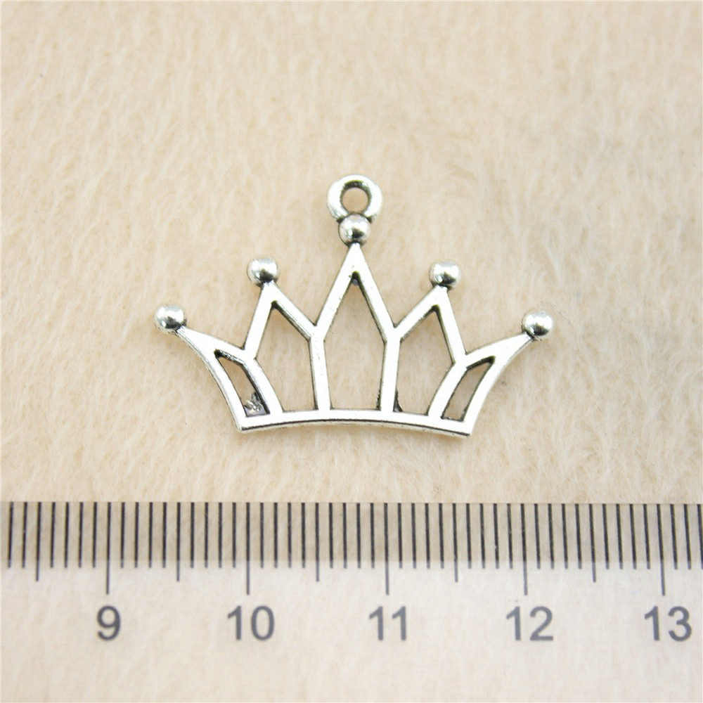 Sales Retail 1 Piece 19x30mm Crown Charms Charms Lot Jewelry Findings