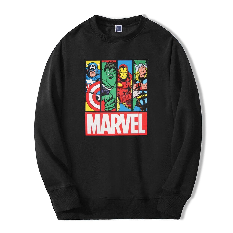 Super Hero Print Sweatshirts Avengers Marvel Comic Casual Streetwear 2019 Men New Fashion Fleece Fitness Winter Warmer Tracksuit