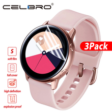 3 Pieces Soft Hydrogel Film for Samsung Galaxy Watch Active 1 2 40m 44mm Protective Film Watch Screen Protector on Active 2 1