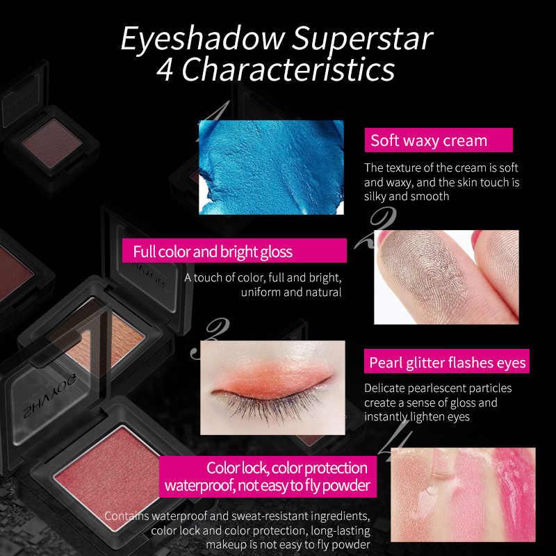 SHVYOG 7 لون بيرليسسينت ظلال العيون طويلة الأمد تظليل عينين أحادي مقاوم للماء كريم الجمال مستحضرات التجميل