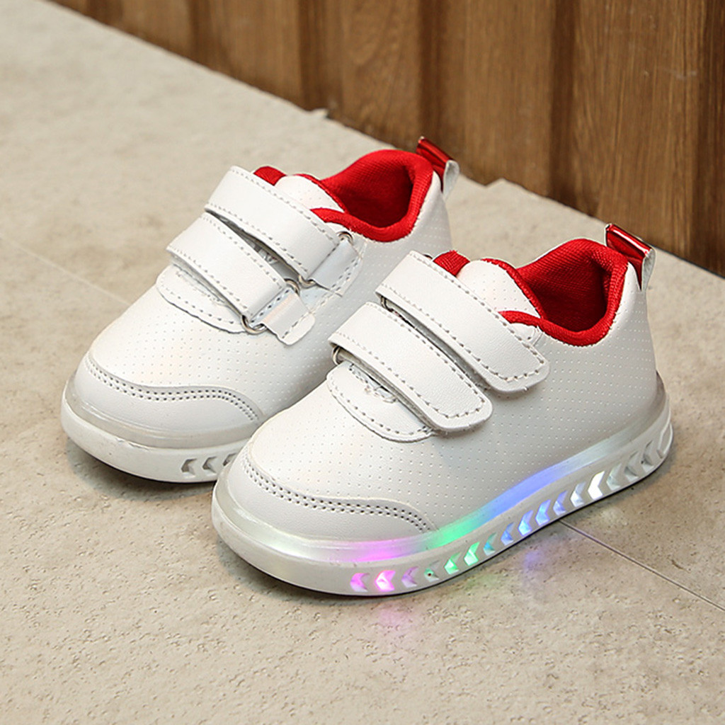 Infant Toddler Baby Girls Boys Light LED Luminous Sport Running Shoes Sneakers Lovely Charming Soft Hook&loop Baby Shoes
