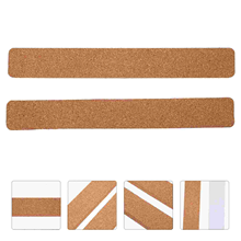 2pcs Self-Adhesive Cork Message Strips Cork Bulletin Strips for Office Home