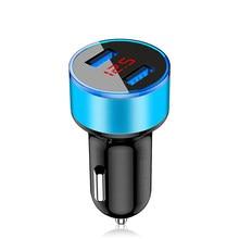 Adaptateur de chargeur de voiture double USB 3,1 a, affichage numérique LED tension/courant, pour véhicule automobile, chargeur métallique pour smartphone/tablette #8