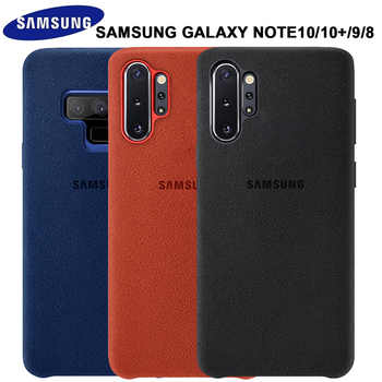 Samsung Note 10 Plus Case Luxury Original Genuine Suede Leather Metal button Fitted Protector Case Samsung Galaxy Note 9 10 NOTE 10+ Case Phone Back Cover Fundas Coque - DISCOUNT ITEM  45% OFF All Category
