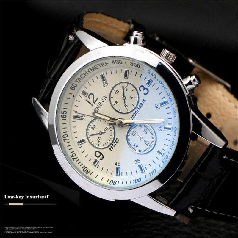 2019 New Men's Watch Elegant Leather Lujo Men's Sports Watches Business Simple Watch Band Wristband Reloj De Hombre Мужские часы